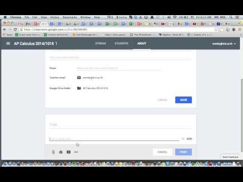 Add a calendar to your Google Classroom