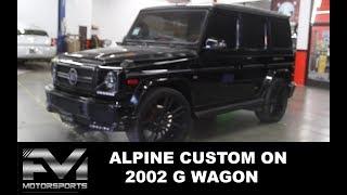 "ONE OF A KIND Alpine 9"" Alpine Halo9  on a 2002 G Wagon | Alpine custom | Car audio custom"