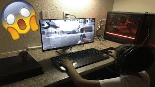 Little Brother Gets Surprised With New Gaming PC! (Reaction & Unboxing)