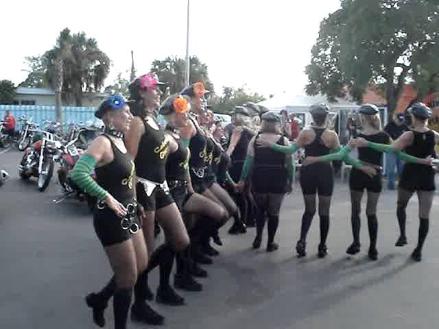 calendar girls Florida dancing to Yankee Doodle