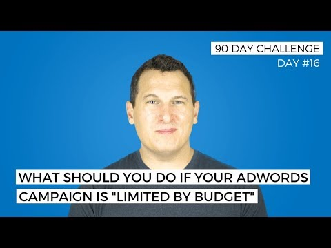 AdWords Limited by Budget - Not anymore! Learn how to optimize your Ad campaigns