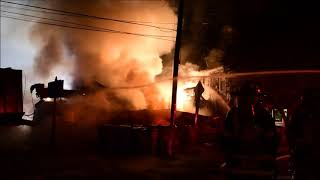 N.J. pizzeria burns to the ground after fiery crash involving a tow truck and a trailer