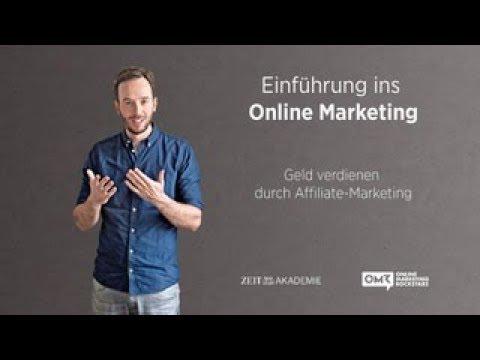 Geld verdienen durch Affiliate-Marketing /Trailer #4: Einführung ins Online-Marketing