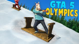 SNOWBOARDING IN GTA 5!! - GTA 5 Winter Olympics (Funny Moments)