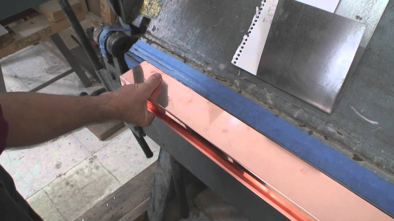 How To Bend Copper Chimney Flashing Youtube