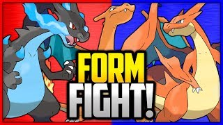 Charizard vs Mega Charizard X vs Mega Charizard Y | Pokémon Form Fight