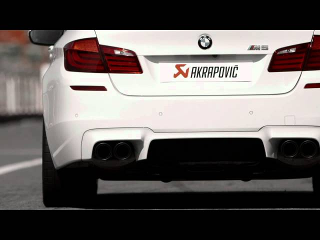BMW M5 (F10) with Akrapovič Evolution exhaust system