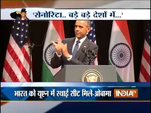 Barack Obama Quotes Shah Rukh Khan's 'Senorita' Dialogue from 'DDLJ' - India TV