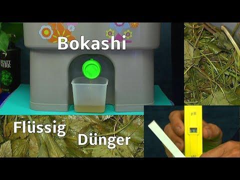 Bokashi nutzen um Biodünger selber herzustellen Teil 2 erster Dünger entnommen und gemessen