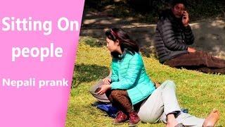 Sitting On People Nepali Prank !!  (Gone Wrong)