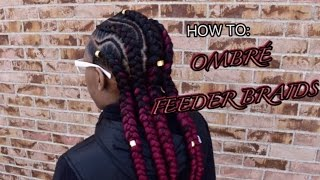 HOW TO: OMBRE FEEDER BRAIDS | HairByMason