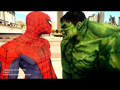 Spiderman VS Hulk - Black Spider-man