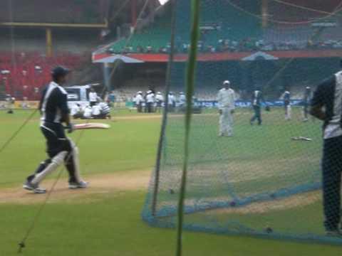 Rahul Dravid & Virender Sehwag net practice  - Bangalore - match Vs Australia - Cricket