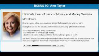 Ann Taylor Healing Treatment | ELIMINATE MONEY ISSUES by Ann Taylor