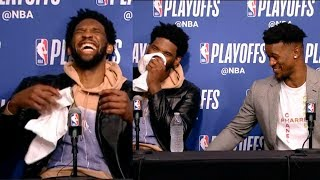 Joel Embiid & Jimmy Butler postgame press conference | Nets vs Sixers - Game 4