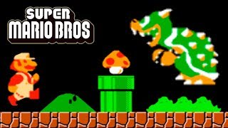 Super Mario Bros NES Walkthrough (No Damage, All Secrets)