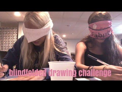 blindfolded drawing challenge | ft. Jade's Corner