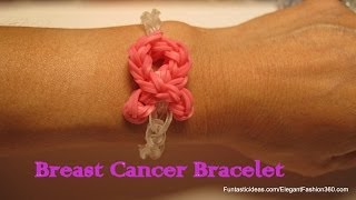 Awareness Pink Ribbon Bracelet - How to Rainbow Loom