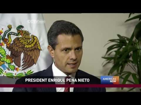 President of Mexico Enrique Peña Nieto talks to Americas Now