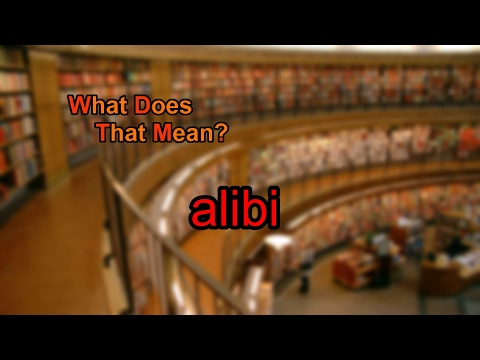 What does alibi mean?