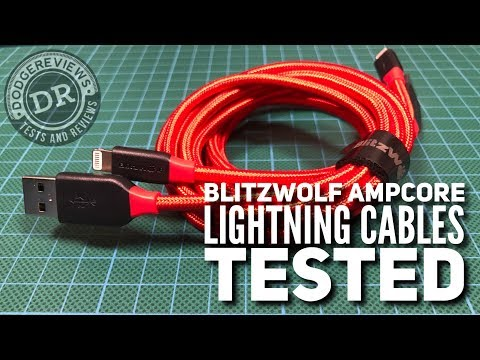 BlitzWolf BW-MF7 & BW-MF8 Ampcore Lightning cables tested
