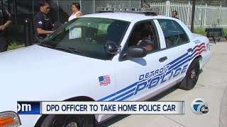 Detroit police chief issues first cruiser to be taken home by officer