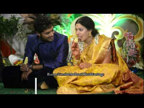 Geetha Madhuri and Nandu Engagement pics video made by fans