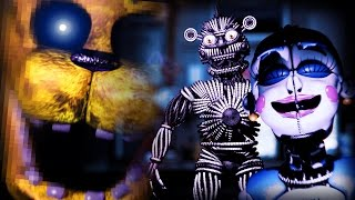 Crazy Golden Freddy Mode GLITCH!! || Five Nights At Freddy's: Sister Location (VERY HARD MODE)