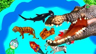 Learn Animal Sounds with Sea Animals and Farm Animals In English For Children - Blue Pool For Kids