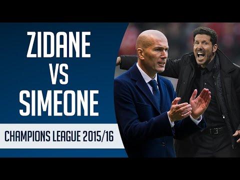 Zinedine Zidane vs Diego Simeone | Champions League 2015/16