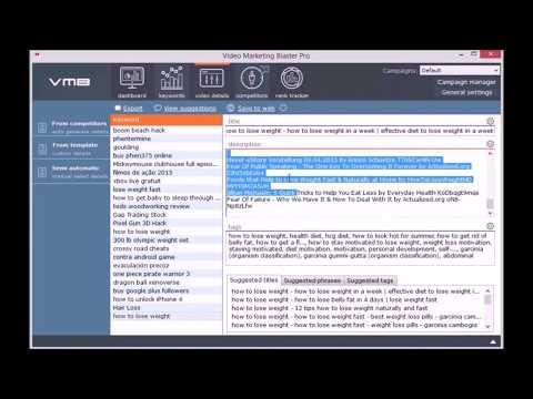 Video Marketing Blaster Pro - Short Demo - VMB Pro