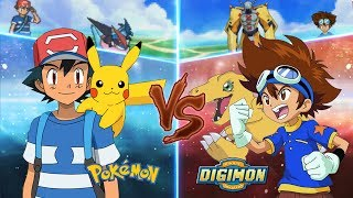 Pokemon Crossover Anime: Pokemon Vs Digimon (Ash Vs Taichi)