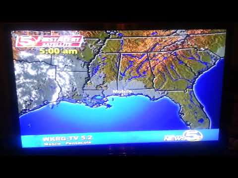 Digital TV DX, WKRG TV, Mobile, AL channel 5-2