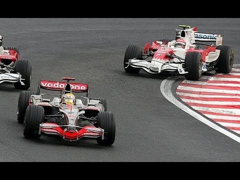 Lewis Hamilton wins the title in Brazil 2008