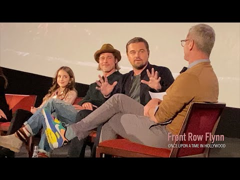 ONCE UPON A TIME IN HOLLYWOOD w/actors Leonardo DiCaprio, Brad Pitt, Julia Butters, and more!