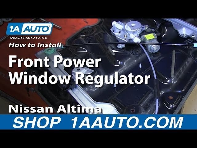 How To Install Replace Remove Front Power Window Regulator ...