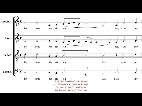 Палестрина Джованни - Alma Redemptoris Mater