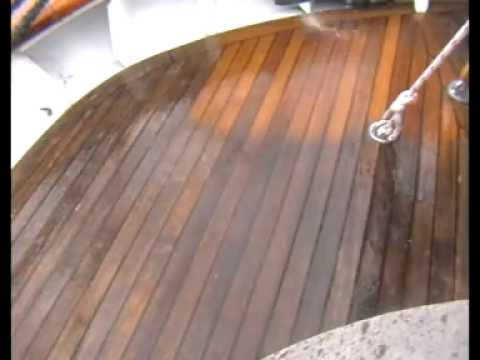 How to best clean a Teak Deck