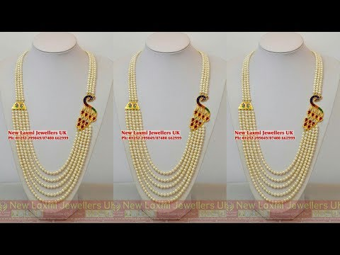 Latest Gold and Pearls Necklaces designs ||Chandra Haram Designs