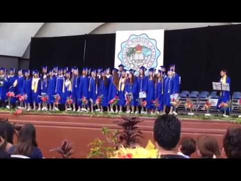 Hawaiian Mission Academy Class Song - 06/04/2014
