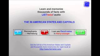 Memorize the 50 American States and capitals