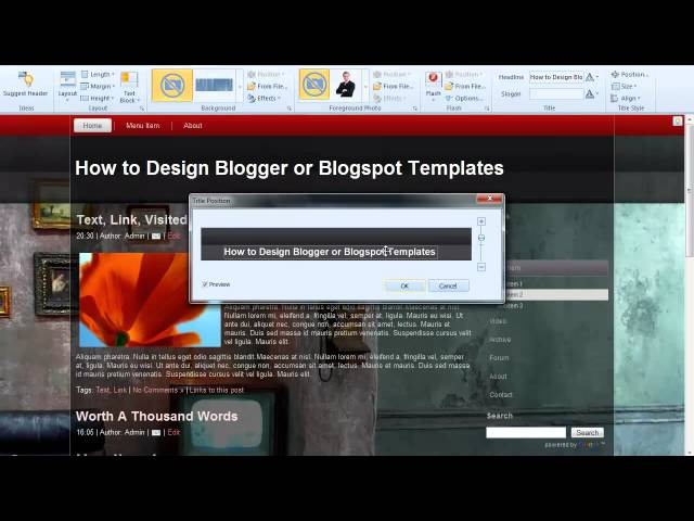 How to Design Blogger templates or Blogspot Templates with Artisteer 3