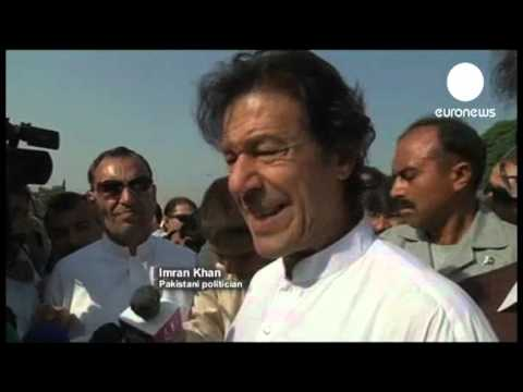 Pakistan  Imran Khan leads anti drone march   euronews, world news