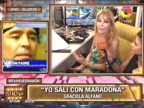 Graciela Alfano regresó a la tele y tiró una bomba: Yo estuve con Maradona