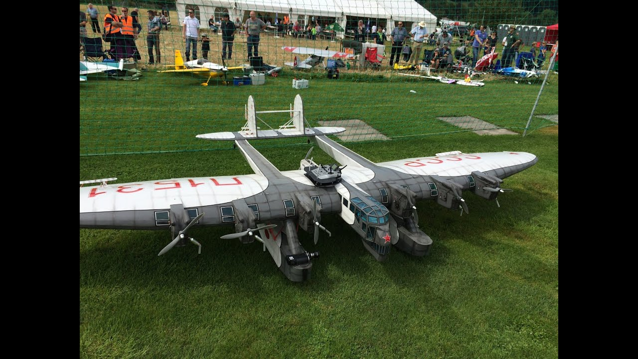 huge rc kalinin k 7 cccp 6m wingspan and 7 motors at kulmer air show 2014 pilot is rainer mattle. Black Bedroom Furniture Sets. Home Design Ideas