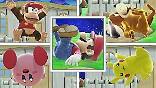 WHAT IF Every Character Tries To Do ALL MARIO TAUNTS in Smash Bros Wii U? (Smash Mods)