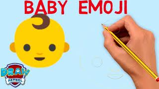 How To Draw Baby Emoji - Easy   Art For Kids Hub