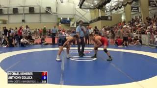 70kg q, Michael Kemerer, Iowa vs Anthony Collica, Oklahoma State