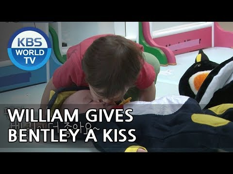 """William gives Bentley a kiss♥ """"I love my brother"""" XD [The Return of Superman/2018.05.27]"""