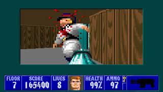 [MS-DOS] Wolfenstein 3D - Floor 7 (Episode III)